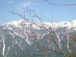 西穂高の山々