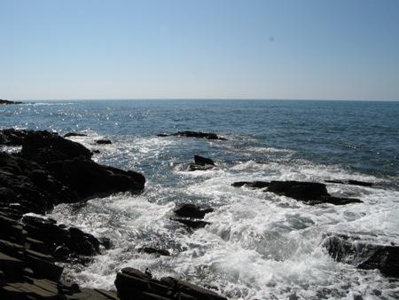 大島海水浴場そば