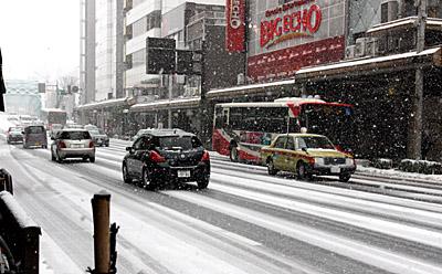 片町雪景色