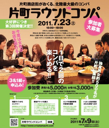 片町ラウンドコンパ2011年7月23日開催