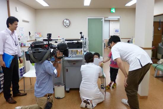 石川テレビの取材